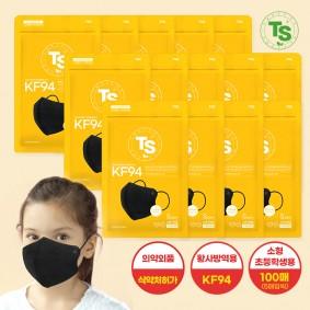 TS가드블라블라황사방역마스크KF94 블랙 (5매씩) 100매, TS마스크, 초등학생용